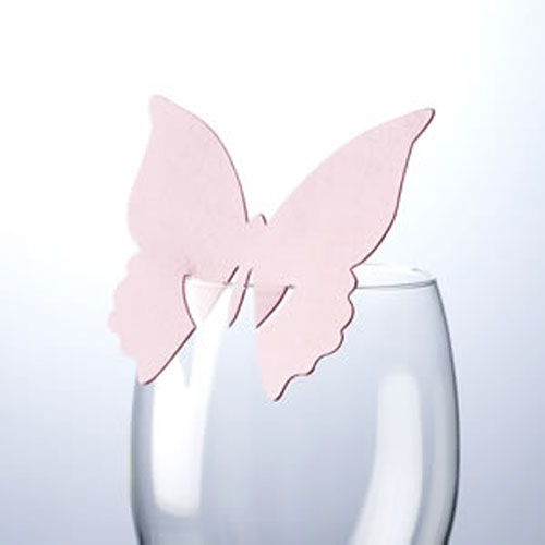 Pink Butterfly Place Card