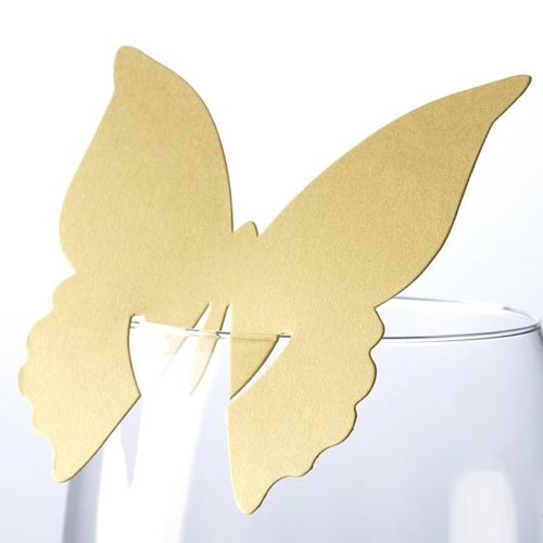 Gold Butterfly Placecard