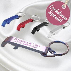 Cocktail Keyholder Bottle Opener wedding favour