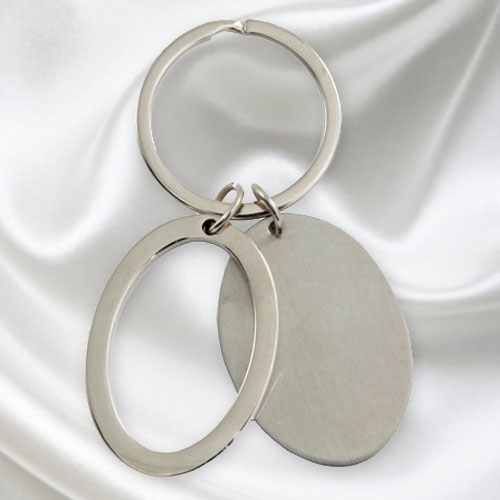 Double Oval keyring