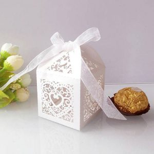 Lasercut Heart Favour Box