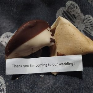 Bride and Groom Fortune Cookie