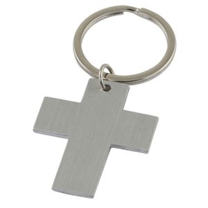 Christian Cross wedding favour keyring
