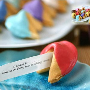 Half Chocolate Dipped Fortune Cookie