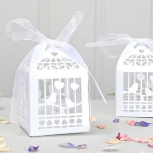 Lasercut Lovebirds Favour Box