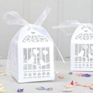 Lasercut Lovebirds Favour Box