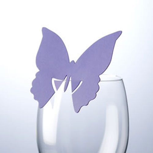 Lilac Butterfly Place Card