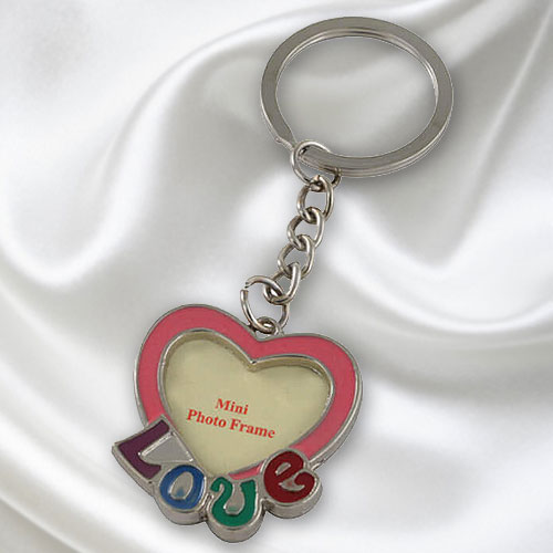 Love Photo Frame Keyring
