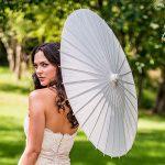White Nylon Parasol