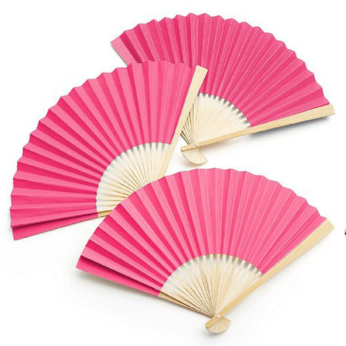 Pink Paper Hand Fans