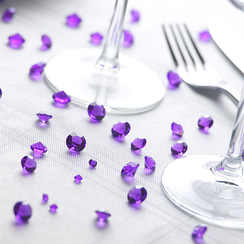 Purple Table Scatter Crystals