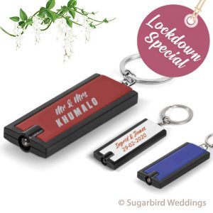Radiant Torch Keyring Wedding Favour