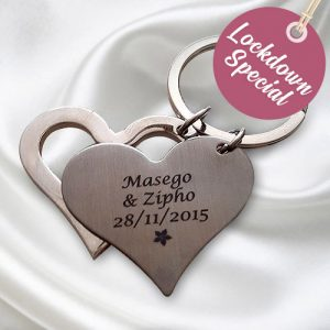 Double Heart Keyring