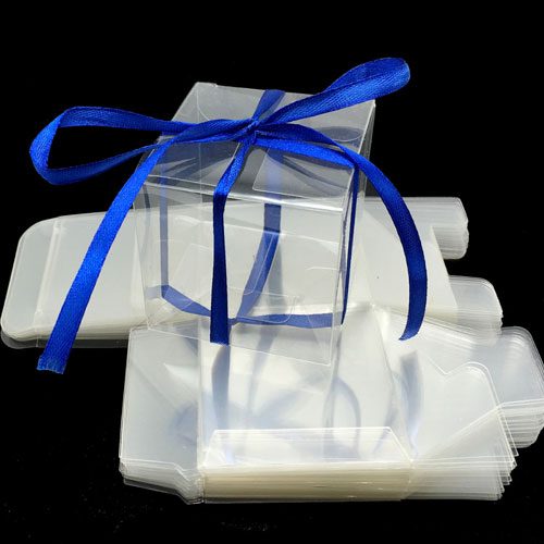 Clear cube favour boxes
