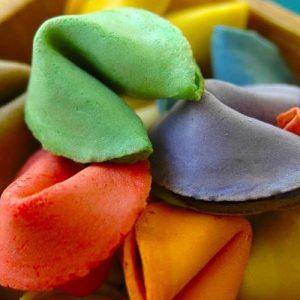 Custom Colour Fortune Cookies