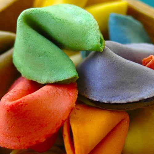 Custom Colour Fortune Cookies