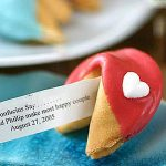 Chocolate Heart Fortune Cookies