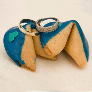 Chocolate Heart Fortune Cookies