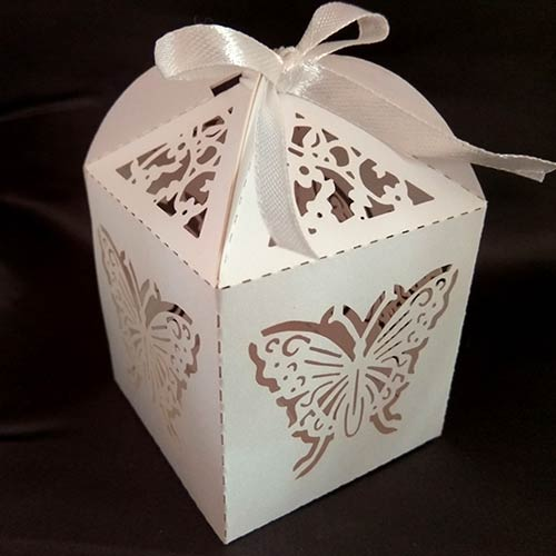 Lasercut Butterfly Favour Box