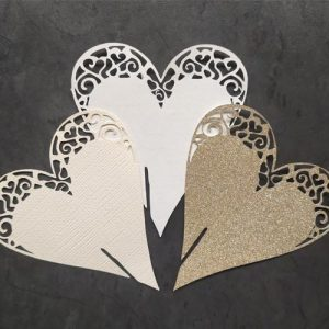 Lasercut Heart Place Cards