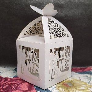 Lasercut Mr & Mrs Favour Box