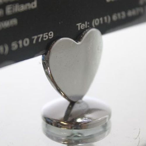 Metal Heart Card Holder