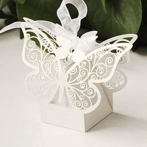 Ornate Butterfly Favour Box