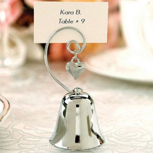 Heart Bell Place Card Holders
