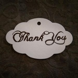 Damask Thank You Tag