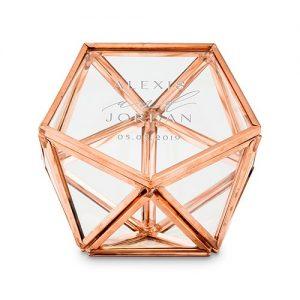 Personalised Geometric Ring Box