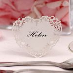 Vintage Romance Heart Place Card