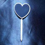 Heart Chalkboard Stake