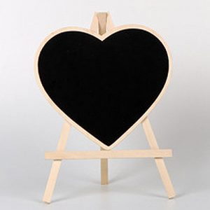 Medium Heart Chalkboard Easel