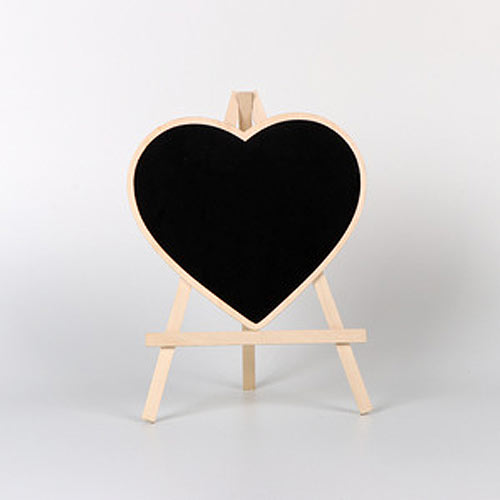 Mini Heart Chalkboard Easel