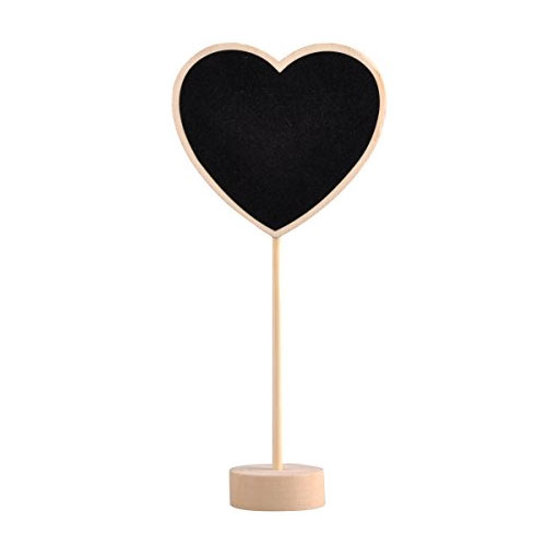 Heart Chalkboard Table Number