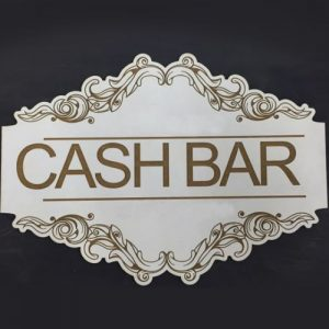 Cash Bar Wedding Sign