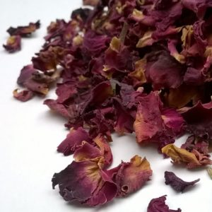 Biodegradable rose petal confetti