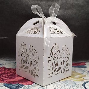 Lasercut Roses Favour Box
