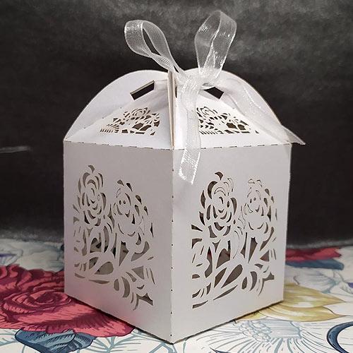 Lasercut Roses Favour Box