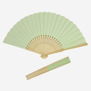 Mint Green Paper Hand Fans