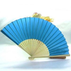 Blue Silk Hand Fan