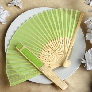 Green Silk Hand Fan