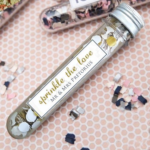 Wedding Confetti Tubes