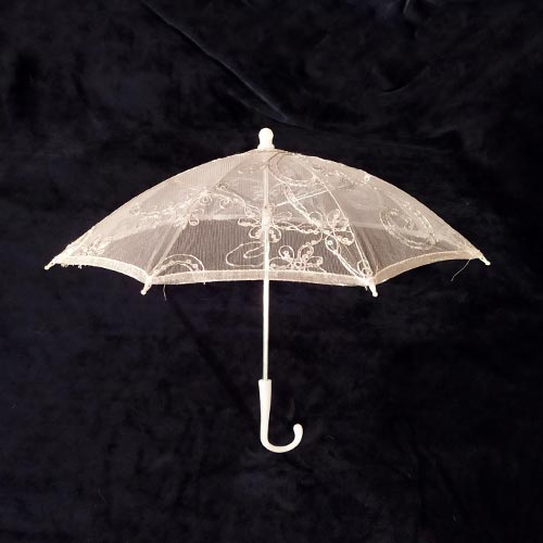 Silver Lace Umbrella