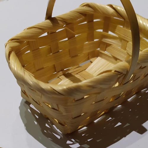 Mini Bamboo Picnic Basket