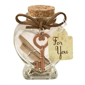 Heart Shaped Glass Jar