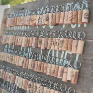 Wine Cork Keyrings