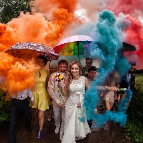 Coloured Smoke Fountain
