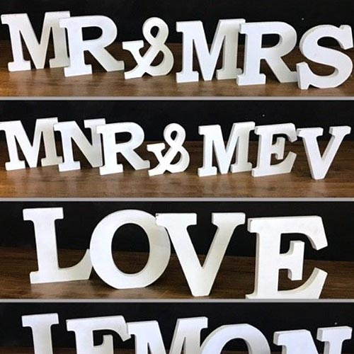 Wooden Table Letters