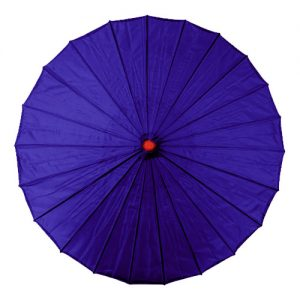 Dark Blue Chinese Parasol